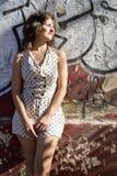 dziewczyna retro zdjęcie royalty free