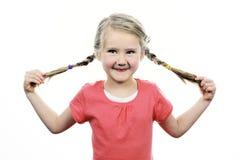 Dziewczyna robi śmiesznej twarzy Fotografia Royalty Free