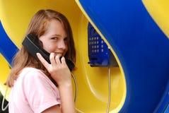 - dziewczyna robi telefon Obrazy Stock