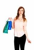 Dziewczyna robi zakupy. Zdjęcie Stock