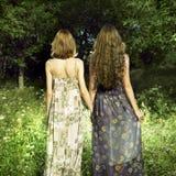 dziewczyna romantyczni dwa Zdjęcia Royalty Free