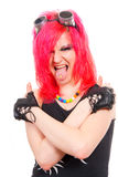 dziewczyna ruch punków Zdjęcia Royalty Free