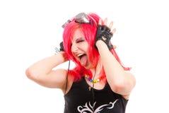 dziewczyna ruch punków Obraz Stock