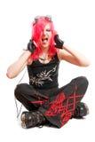 dziewczyna ruch punków Obrazy Royalty Free