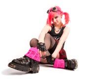 dziewczyna ruch punków Zdjęcia Stock