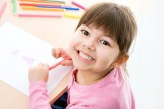 Dziewczyna rysuje Zdjęcie Stock
