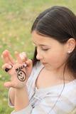 Dziewczyna rysunek na ręce Obraz Stock