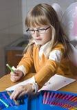 dziewczyna rysunkowy dom Obraz Stock