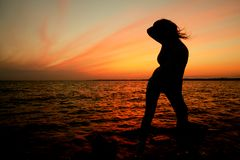 dziewczyna słońca Fotografia Royalty Free