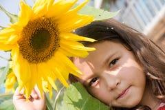 dziewczyna słonecznik Zdjęcia Stock