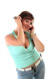 Dziewczyna słucha muzyka Zdjęcie Royalty Free
