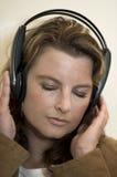 dziewczyna słuchawki Zdjęcie Royalty Free