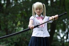 dziewczyna samurajowie Obraz Stock