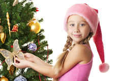 dziewczyna Santa Zdjęcia Royalty Free