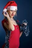 dziewczyna Santa Zdjęcie Stock