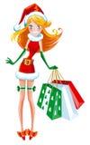 dziewczyna Santa Obrazy Royalty Free