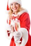 dziewczyna Santa Zdjęcie Royalty Free