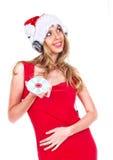 dziewczyna Santa Fotografia Royalty Free