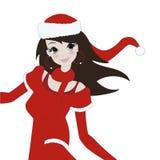 dziewczyna Santa Fotografia Stock
