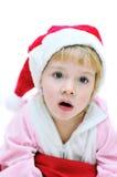 dziewczyna Santa zaskakujący zdjęcia stock