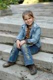 dziewczyna schody Obraz Royalty Free