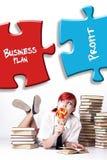 Dziewczyna sen pomyślny biznes obrazy royalty free