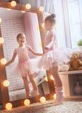 Dziewczyna sen zostać baleriną obraz royalty free