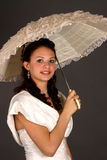 dziewczyna się biały Zdjęcie Stock
