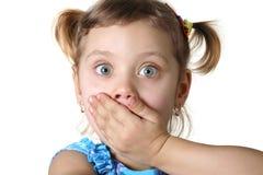 dziewczyna się boi Obrazy Stock