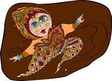 dziewczyna skacze royalty ilustracja