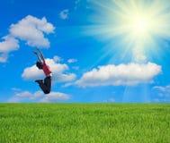 dziewczyna skacze Zdjęcia Stock