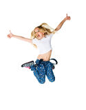 dziewczyna skacze trochę Fotografia Stock