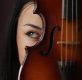 dziewczyna skrzypce Fotografia Stock
