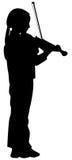 dziewczyna skrzypce Zdjęcie Royalty Free