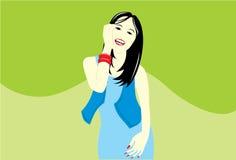 dziewczyna smilling Ilustracja Wektor