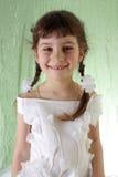 dziewczyna smokingowy biel Obrazy Royalty Free
