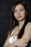 dziewczyna smokingowy biel zdjęcia royalty free