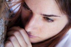 dziewczyna smutna obrazy stock