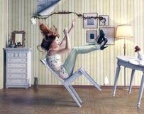 Dziewczyna spadki Zdjęcia Stock