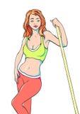 dziewczyna sporty Ilustracja Wektor