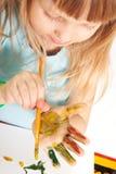 dziewczyna stół obrazy stock