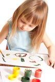 dziewczyna stół Zdjęcie Royalty Free