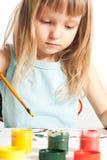 dziewczyna stół Zdjęcie Stock