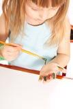 dziewczyna stół Obraz Stock