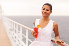 Dziewczyna statek wycieczkowy zdjęcia stock