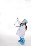 dziewczyna stetoskop Obrazy Royalty Free