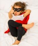 Dziewczyna super bohater obrazy stock