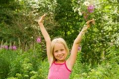 dziewczyna szczęśliwa Fotografia Royalty Free
