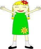dziewczyna szczęśliwa ilustracja wektor