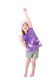 dziewczyna szczęśliwa bardzo Obrazy Royalty Free